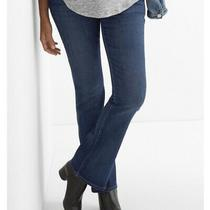 Nwot Sz 8 Gap 1969 Maternity Blue Full Panel Baby Boot Jeans Stretch Photo