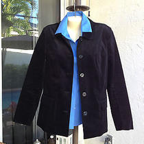 Nwot Talbots Black Velvet Jacket Sz 10 Super Photo