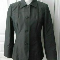 Nwot Talbots Petites Blazer Jacket Button Front Gray Career Womens 6p Photo