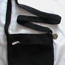 Nwot the Sak Black Crochet Knit Woven Cross-Body Purse Shoulder Bag Small Photo