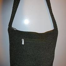 Nwot the Sak Elegant Hunter Green Crochet Shoulderbag  W/ Crochet Strap Photo