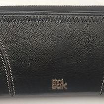 Nwot the Sak Leather Wallet Clutch Black Leather  Photo