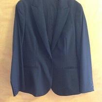Nwot Theory Black Wool Blazer Jacket Sz 12 Photo