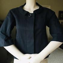 Nwot  Theory Cotton 3/4 Sleeves Black  Blazer Jacket  6 Photo