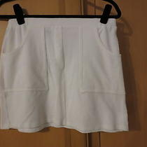 Nwot Theory White Terry Cloth Skirt  Small Photo