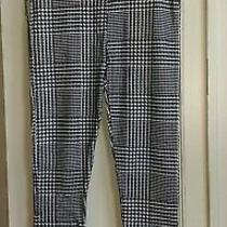 Nwot Topshop Leggings Trousers Black/white Check Dogtooth Size 8 Tight Fit Women Photo
