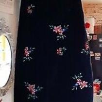 Nwot Topshop Moto Black Floral Pinafore Dungaree Dress Size 4 Petite Velvet Look Photo