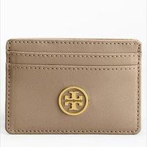 Nwot Tory Burch Robinson Slim Card Case in Clay Eques - 85 Photo