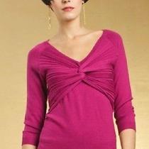 Nwot Trina Turk Margeaux Merino Wool Sweater Size L Retails 198.00 Photo