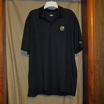 Nwot Under Armour  Black Chiefs Black Hawks Golf Polo Shirt Size  Large Photo