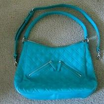 Nwot Vera Bradley Vivian Hobo Shoulder Bag in Turquoise Sea Microfiber Purse  Photo