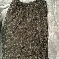 Nwot Versace Hm Black Gold Stud Dress Glitter Sparkle Eu 36 Us 6 Designer Club Photo