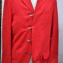 Nwot Versus Gianni Versace Mens Jacket Cotton Linen Red Sz 48it 38us  Photo