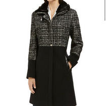 Nwot via Spiga Tweed Faux Fur Collar Coat Size Xs Photo