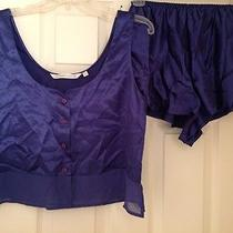 Nwot Victoria's Secret Sleep Short Set Tank Top Style Navy Blue Size M Photo