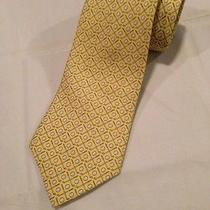 Nwot Vineyard Vines Marthas Vineyard Yellow Golf Club Balll Hand Made Silk Tie Photo