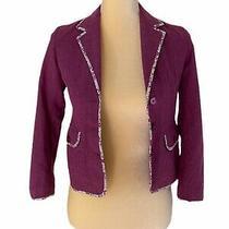 Nwot Vintage Gap Kids Girls Button Up Fuchsia Pink Purple Blazer Jacket Size 8 Photo