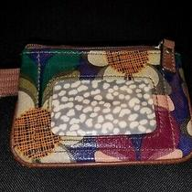 Nwot w's Fossil Key Per Floral Print Coated Canvas Change Id Key-Chain Wallet Photo