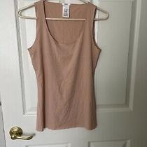 Nwot Wolford Small Nude Modal/elastane Raw Edge Round Neck Tank Top Shell Cami Photo