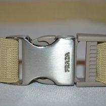 Nwot Woman's Sz S Prada Beige Stretchy Adjustable Clip Fasten Belt Photo