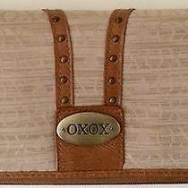 Nwot Woman's Xoxo Signature Logo Print Zip Around Clutch Wallet   Photo