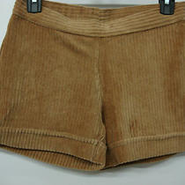Nwot Women's Hue Wide Wale Corduroy Shorts Size Small Camel 452b Photo