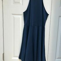 Nwot Womens Charlotte Russe Blue Dress Size Large Photo
