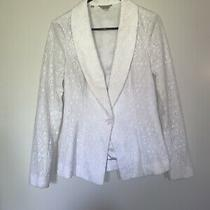 Nwot Womens Guess White Blazer With Lace Size S Photo