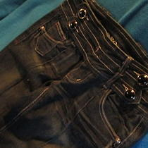 Nwot   Xoxo Super Hip Black Dark Jeans (0) Rocker Bling Photo