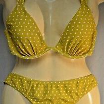 Nwot Yellow- Mustard Polka Dot 2 Piece Bikini From Express Size Large  Photo
