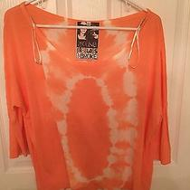 Nwot Young Fabulous & Broke Coral Pink Tie Dye Knit Shirt Size Xs Photo