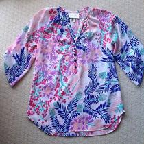 Nwot Yumi Kim White Botanical Floral Blouse Xs Photo