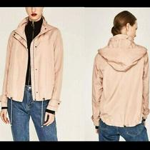 Nwot Zara Blush Color Zip Up Hooded Jacket (Women's Size Xs) Photo