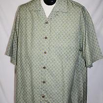 Nwots Mens Tommy Bahama 100%  Silk Casual Dress Shirt Blue / Green Size-Large Photo