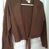 Nwots Tommy Bahama Sweater Cardigan Tie Front Cocoa  Med Silk/cotton Gorgeous Photo