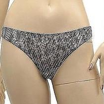 Nwt 089 New Roberto Cavalli Womens Thong Panty Silver 44 M  Na923bly Photo