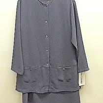 Nwt 10 Sara Campbell 2 Piece Dress Woven Charcoal Sleeveless Shift and Coat  Photo
