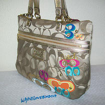 Nwt 100% Auth Coach Dsy Pop C Aplq Tote B4/multi F20099 298 Same Day Shpmt Photo