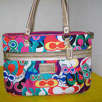 Nwt 100% Auth Coach Dsy Pop C Prnt Tote B4/multi F20080 298 Same Day Shpmt Photo