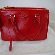 Nwt 100% Auth Prada Saffiano Vernice Tote Bag Rosso Bn 2316 1750 Photo