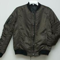 Nwt 100% Bloomingdale Blank Nyc Womens Reversible Bomber Jacket S Olive Blk 138 Photo