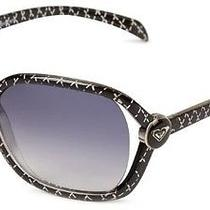 Nwt 100 Roxy Madone Glamour Sunglasses Black Gray Gradient Rx5152 977 B35 Photo