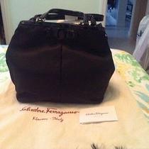 Nwt 1050 Salvatore Ferragamo  Black Nylon