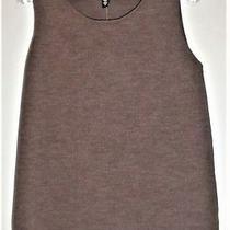 Nwt 108. Eileen Fisher Shell Tank Top Jewel Neck Italian Yarn Wool Brown S    Photo