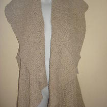 Nwt 108 Karen Kane Mojave Sun Tape Yarn Open Front Sweater Vest Sz L (12-14) Photo