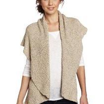 Nwt 108 Karen Kane Mojave Sun Tape Yarn Vest Jacket Beige Size Large Photo