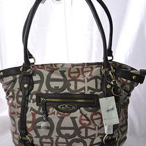 Nwt110 Etienne Aigner Brown Womans Large Designer Handbag Purse Hobo Satchel Photo