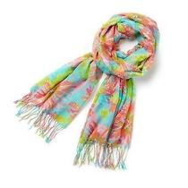 Nwt 118 Lilly Pulitzer Murfee Scarf Crystal Water Trippin and Sippin Photo