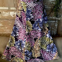 Nwt 118 Tommy Bahama 100% Silk Skirt Floral Blue Purple Size 12 Photo