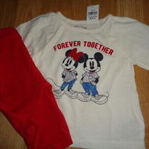 Nwt 12-18 Outfit Baby Gap Forever Together Top Gymboree Parisian Rose Bottom Photo